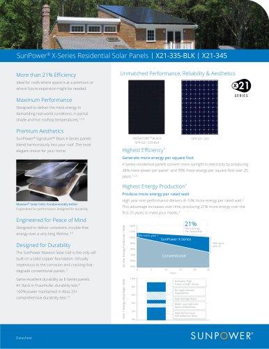 SunPower® X-Series Residential Solar Panels | X21-335-BLK | X21-345