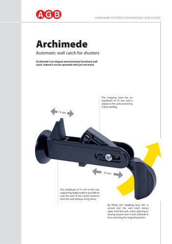 Archimede - Automatic wall catch for shutters