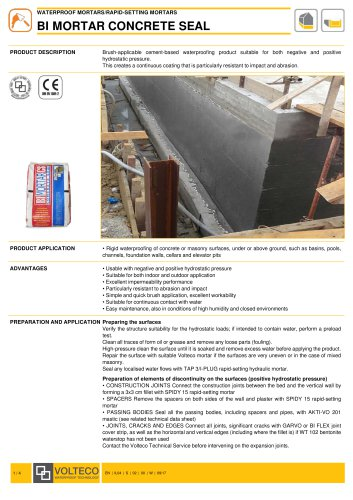 BI MORTAR CONCRETE SEAL