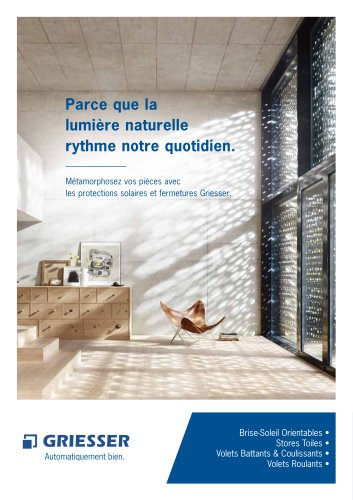Brochure présentation Griesser
