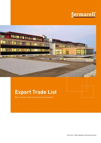 Fermacell export trade list