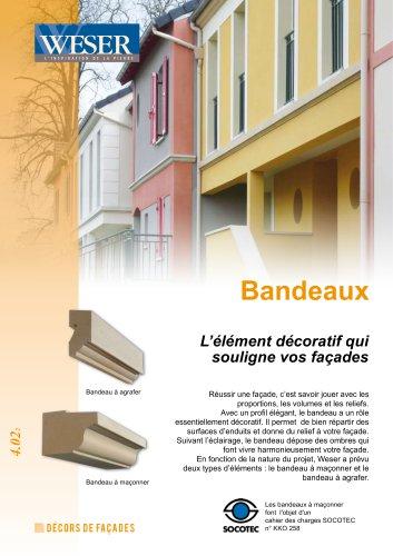 Bandeaux pour façade