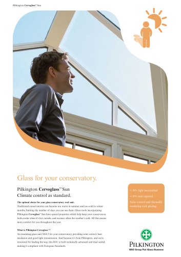 Glass for your conservatory
