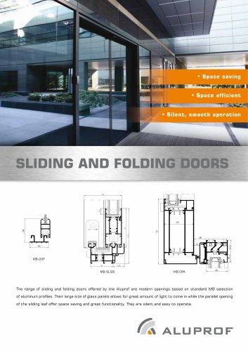 The folding door system