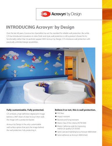 Acrovyn by Design Intro Flyer