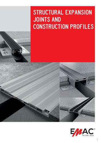 Expansion Joints & Building profiles catalogue