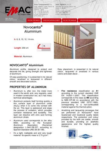 Novocanto Aluminium