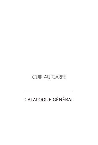 Catalogue réalisations générales