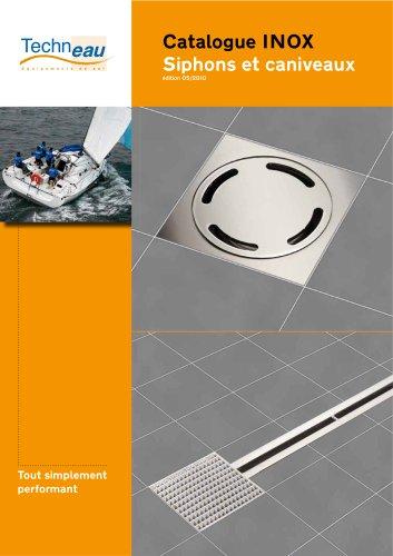Catalogue INOX Siphons et caniveaux