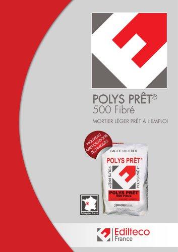 Documentation POLYS PRÊT® 500 Fibré
