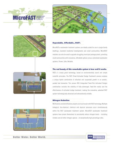 domestic wastewater treatment plant MICROFAST