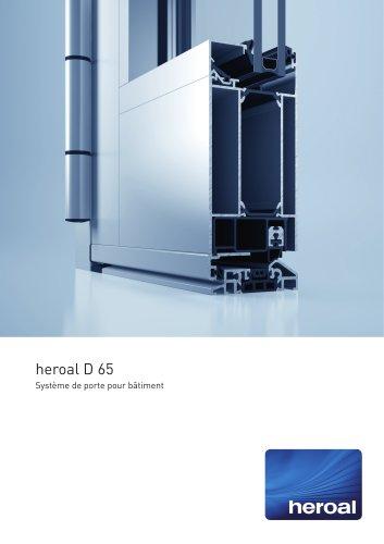heroal D 65 porte de bâtiment