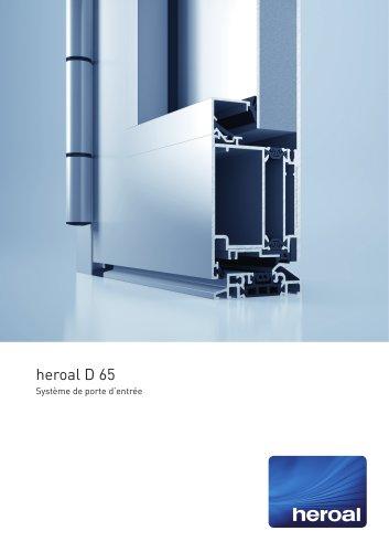 heroal D 65 porte d'entrée