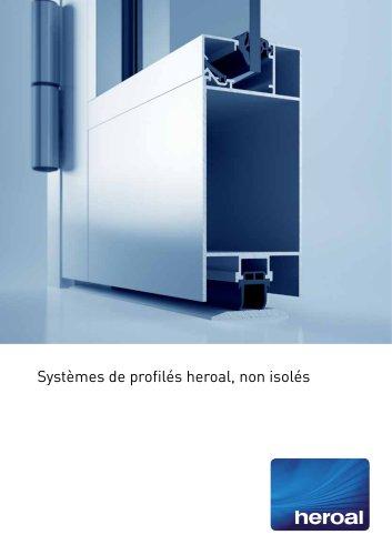 Systèmes de profilés heroal, non-isolé