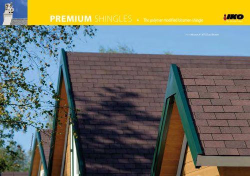 PREMIUM SHINGLEs • The polymer modified bitumen shingle