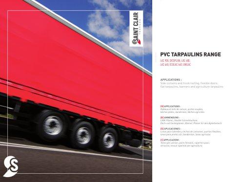 PVC TARPAULINS RANGE