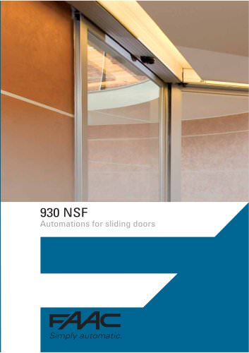 Automatic door 930 NSF