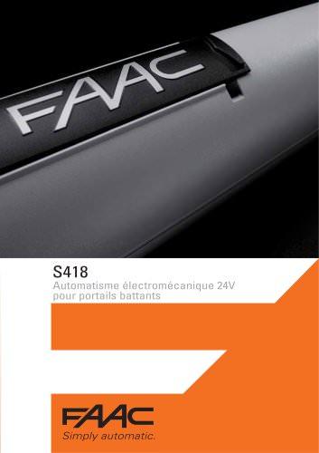 Automatisme électromécanique S418 24V - Portails battants