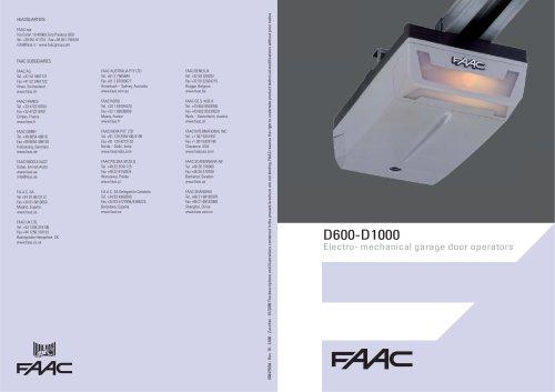 D1000 garage door operator