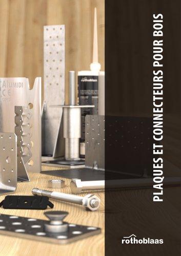 Plaques et connecteurs pour bois