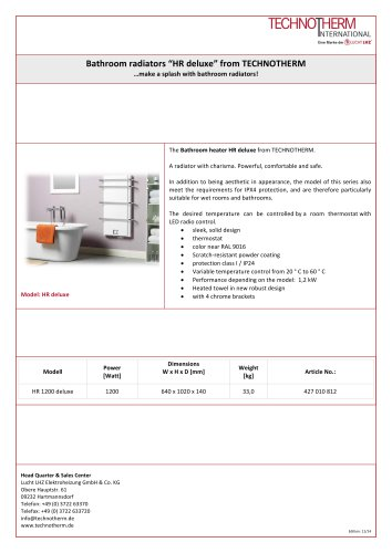 bath radiator HR Delux