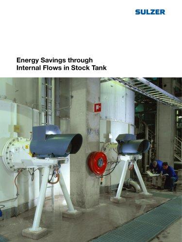 Energy Savings through Internal Flows in Stock Tank