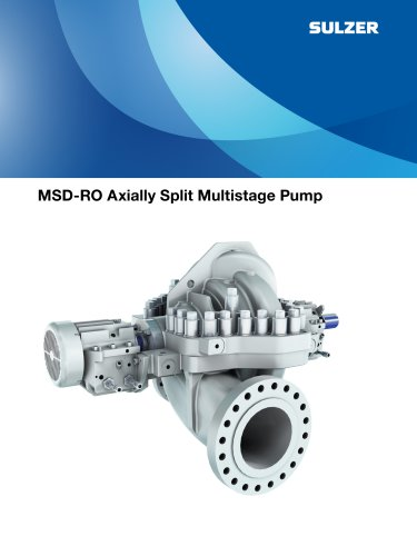 MSD-RO Axially Split Multistage Pump Brochures
