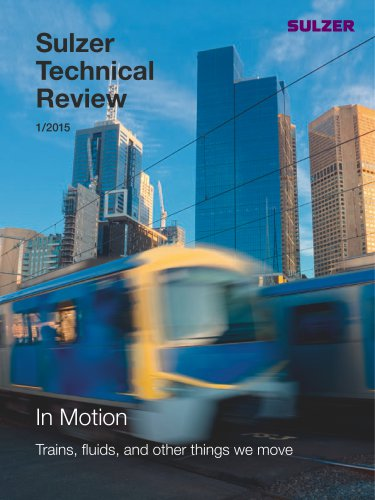 Sulzer Technical Review 1 / 2015