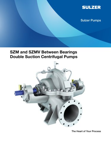 SZM and SZMV Between Bearings Double Suction Centrifugal Pumps Brochures