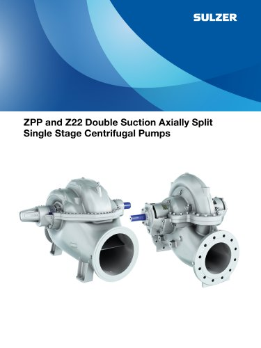 ZPP and Z22 Double Suction Axially Split Single Stage Centrifugal Pumps