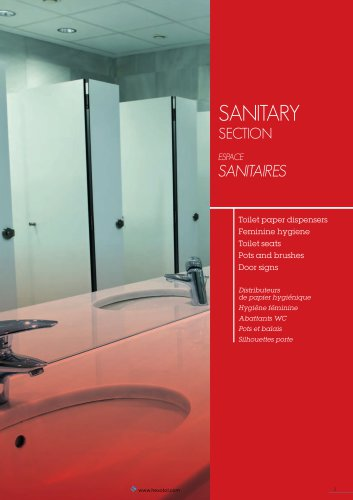 sanitarY sECtion ESPACE SANITAIRES