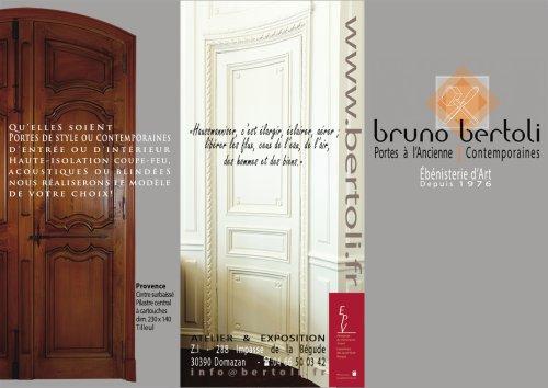 Brochure portes Bertoli 2015