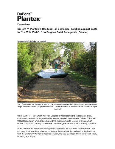 DuPont? Plantex® RootBarrier solution