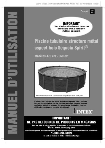 Piscine tubulaire structure métal aspect bois Sequoia Spirit
