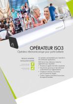 ISO 3 Opérateur électromécanique pour portes battantes