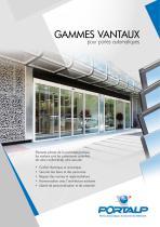PORTALP - Gamme vantaux pour portes automatiques