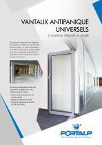 Vantaux ANTIPANIQUE UNIVERSELS  (API)