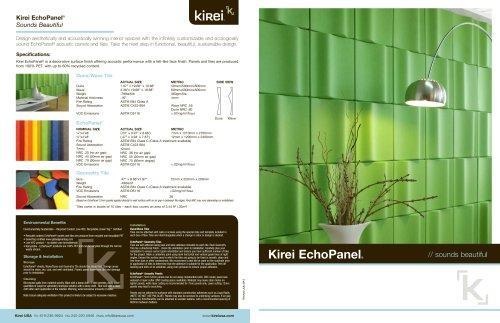Kirei EchoPanel® Sounds Beautiful
