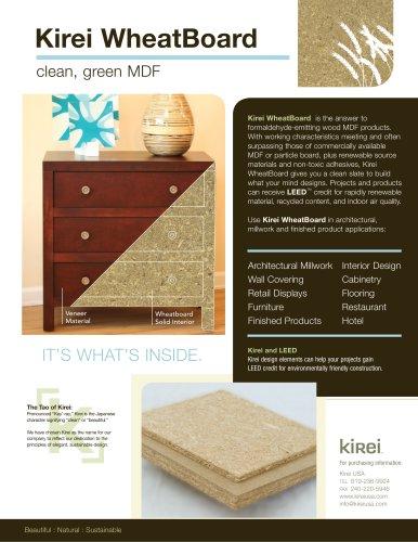 Kirei Wheatboard Spec Sheet