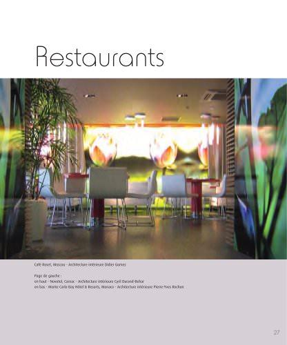 Roset Contract- Hotel Design, Restaurants
