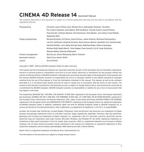 Quickstart CINEMA 4D R14