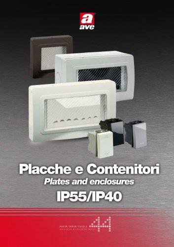 Placche e Contenitori IP55/IP40
