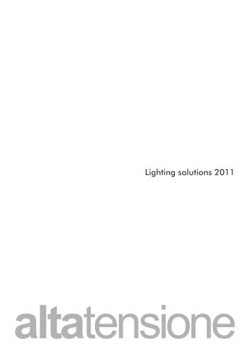 Altatensione Lighting Solution 2011 Euroluce