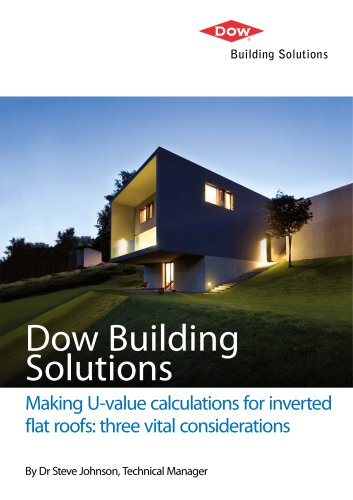 Making U-value calculations for inverted flat roofs