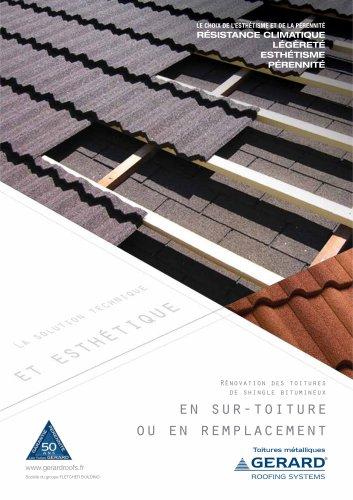 Brochure GERARD Rénovation Shingle Bitumineux