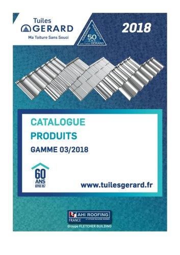 Catalogue Produits GAMME 03/2018