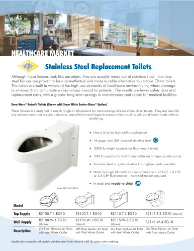 Stainless Steel Replacement Toilets