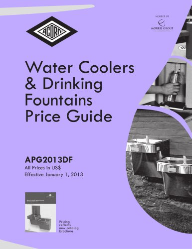 Water Coolers & Drinking Fountains Price Guide 2013