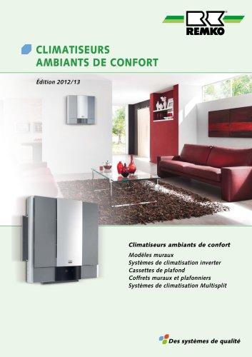 CLIMATISEURS AMBIANTS DE CONFORT 2012-13