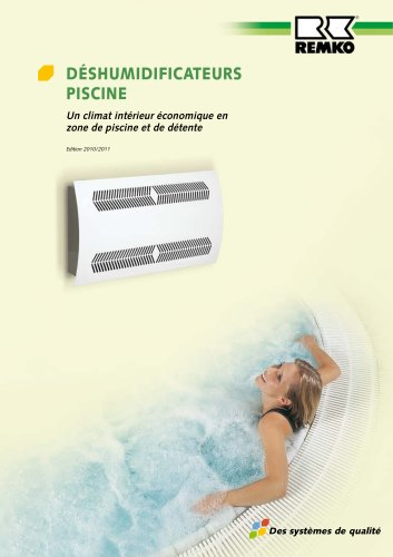 Déshumidificateurs piscine 2010-2011